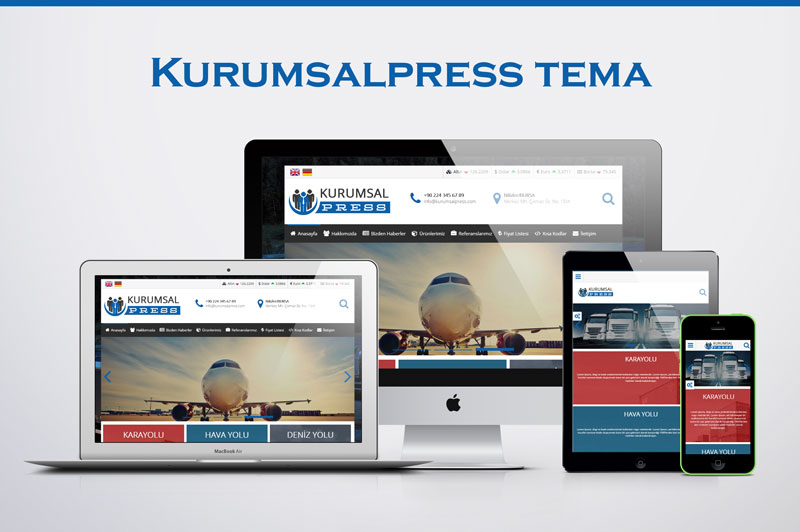 Kurumsal Press Teması | Wordpress Temam | Premium Wordpress Temaları